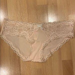Victoria secret hipkini in peach lace